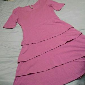 Hanna Andersson Layered Ruffle Dress Purple XS